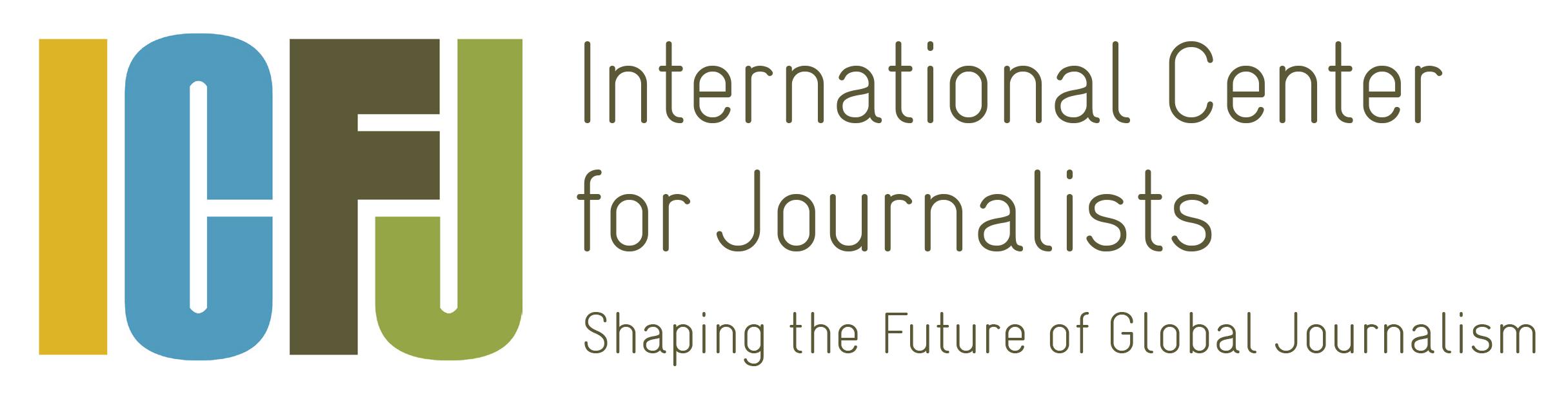 ICFJ logo tagline 2016 CMYK